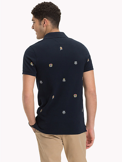 TOMMY HILFIGER Besticktes Slim Fit Poloshirt - SKY CAPTAIN - TOMMY HILFIGER NEW IN - main image 1