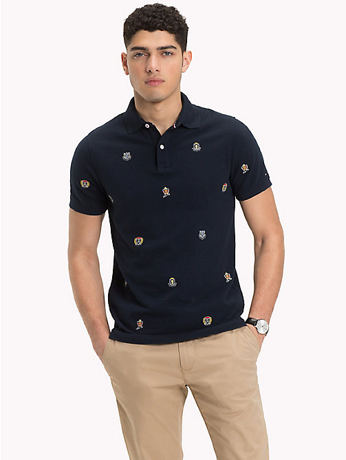 TOMMY HILFIGER Embroidered Slim Fit Polo Shirt - SKY CAPTAIN - TOMMY HILFIGER NEW IN - main image