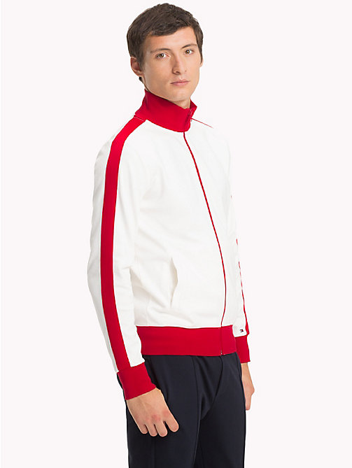 TOMMY HILFIGER Trainingsjacke mit Retro-Streifen - HAUTE RED - TOMMY HILFIGER NEW IN - main image