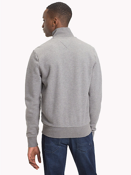 TOMMY HILFIGER Quilted Regular Fit Jacket - SILVER FOG HTR - TOMMY HILFIGER Sweatshirts - detail image 1