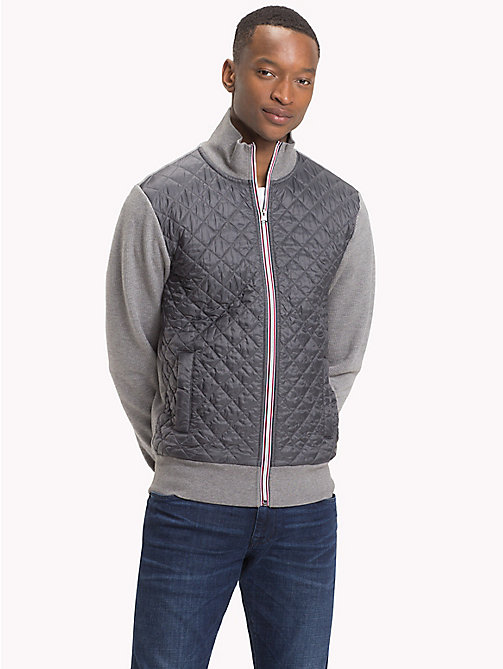 TOMMY HILFIGER Quilted Regular Fit Jacket - SILVER FOG HTR - TOMMY HILFIGER Sweatshirts - main image