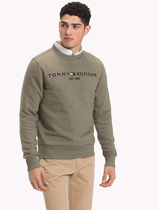 TOMMY HILFIGER Logo Sweatshirt - DUSTY OLIVE - TOMMY HILFIGER NEW IN - main image