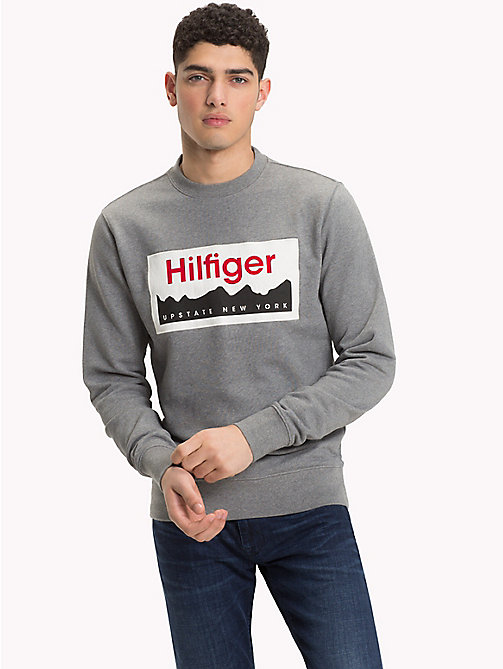 TOMMY HILFIGER Upstate NY Logo Sweatshirt - SILVER FOG HTR - TOMMY HILFIGER NEW IN - main image