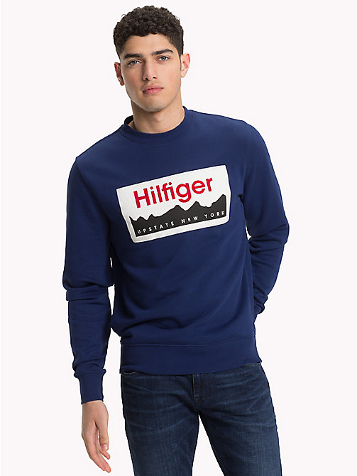 TOMMY HILFIGER Sweat à logo Upstate NY - BLUE DEPTHS - TOMMY HILFIGER Vetements - image principale