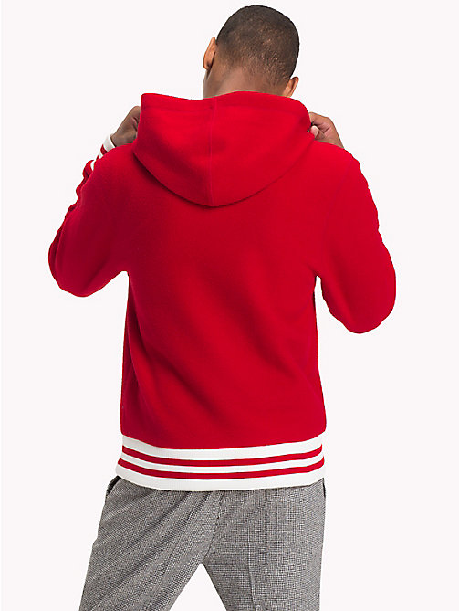 TOMMY HILFIGER Monogram Relaxed Fit Hoody - HAUTE RED - TOMMY HILFIGER NEW IN - detail image 1