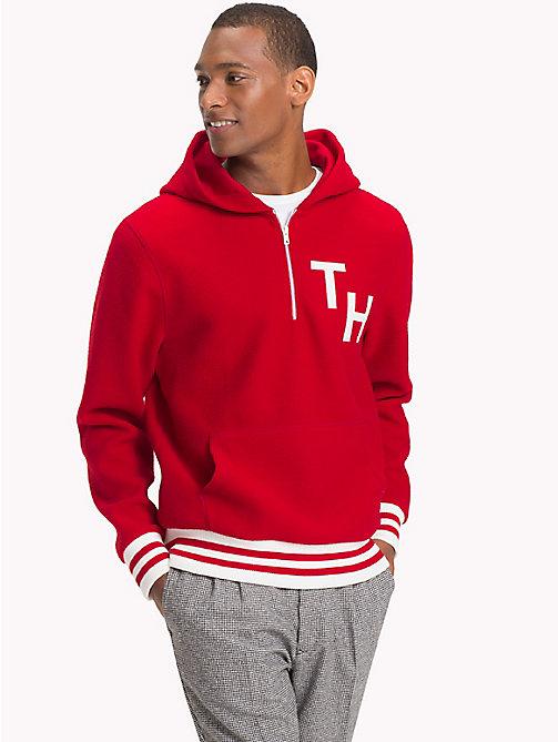 TOMMY HILFIGER Monogram Relaxed Fit Hoody - HAUTE RED - TOMMY HILFIGER NEW IN - main image