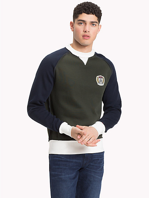 TOMMY HILFIGER Colour-Blocked Crest Sweatshirt - ROSIN / MULTI - TOMMY HILFIGER NEW IN - main image