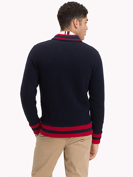 TOMMY HILFIGER Fleece Baseball Zip Jacket - SKY CAPTAIN - TOMMY HILFIGER NEW IN - detail image 1