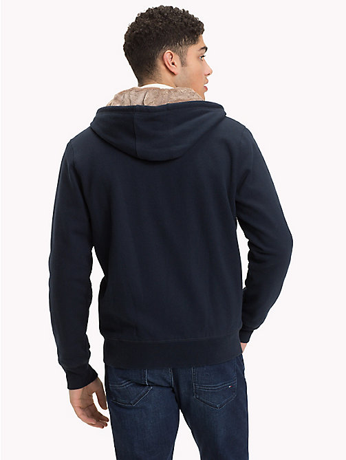 TOMMY HILFIGER Fur-Lined Zip Hoody - SKY CAPTAIN - TOMMY HILFIGER NEW IN - detail image 1