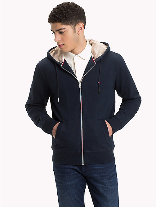 TOMMY HILFIGER Fur-Lined Zip Hoody - SKY CAPTAIN - TOMMY HILFIGER NEW IN - main image