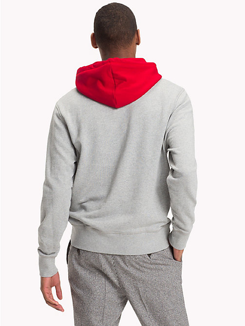 TOMMY HILFIGER Relaxed Fit Hoody - CLOUD HTR - TOMMY HILFIGER Hoodies - detail image 1