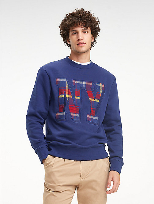 TOMMY HILFIGER NY Appliqué Sweatshirt - MEDIEVAL BLUE - TOMMY HILFIGER NEW IN - main image