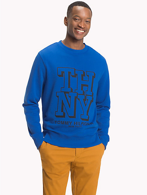 TOMMY HILFIGER Sweat universitaire col ras-du-cou - BLUE LOLITE - TOMMY HILFIGER Vetements - image principale