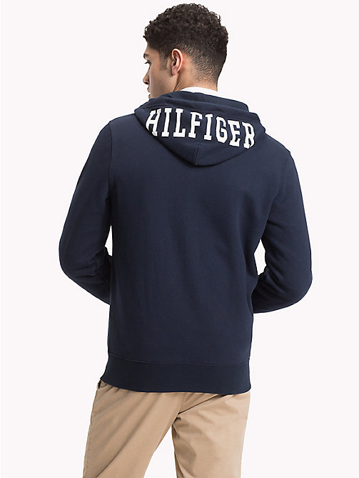 TOMMY HILFIGER Collegiate Fleece Hoody - SKY CAPTAIN - TOMMY HILFIGER Hoodies - detail image 1