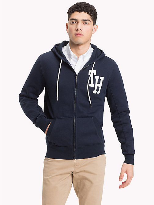 TOMMY HILFIGER Collegiate Fleece Hoody - SKY CAPTAIN - TOMMY HILFIGER Hoodies - main image