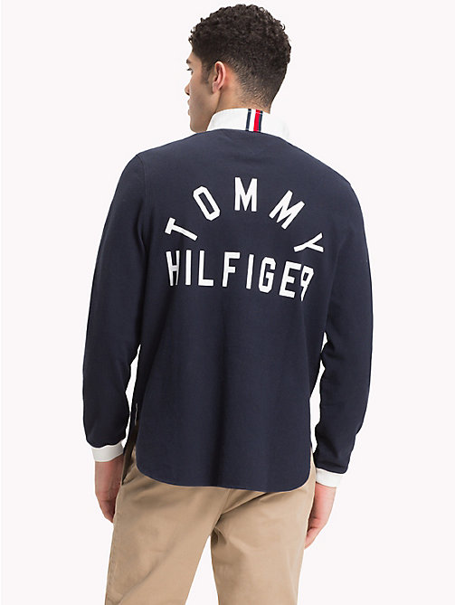 TOMMY HILFIGER Logo Rugby Shirt - SKY CAPTAIN - TOMMY HILFIGER Rugby shirts - detail image 1