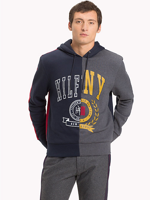 TOMMY HILFIGER Colour-Blocked Graphic Hoody - SKY CAPTAIN / MULTI - TOMMY HILFIGER NEW IN - main image