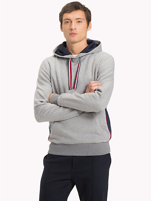 TOMMY HILFIGER Signature regular fit hoodie - SILVER FOG HTR - TOMMY HILFIGER Hoodies - main image