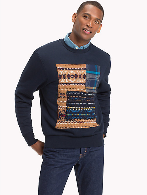 TOMMY HILFIGER Patchwork Sweatshirt - SKY CAPTAIN - TOMMY HILFIGER NEW IN - main image