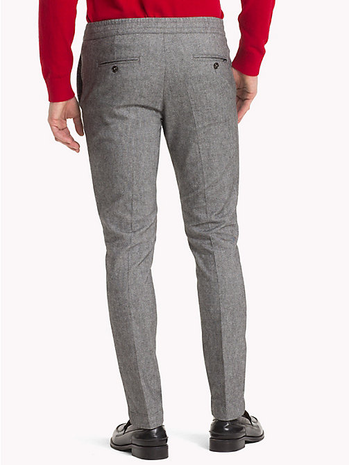 TOMMY HILFIGER Flannel Joggers - CLOUD HTR - TOMMY HILFIGER Men - detail image 1