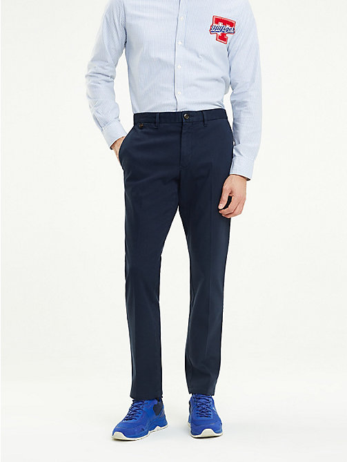 TOMMY HILFIGER Denton Straight Fit Chinos - SKY CAPTAIN - TOMMY HILFIGER Trousers & Shorts - main image