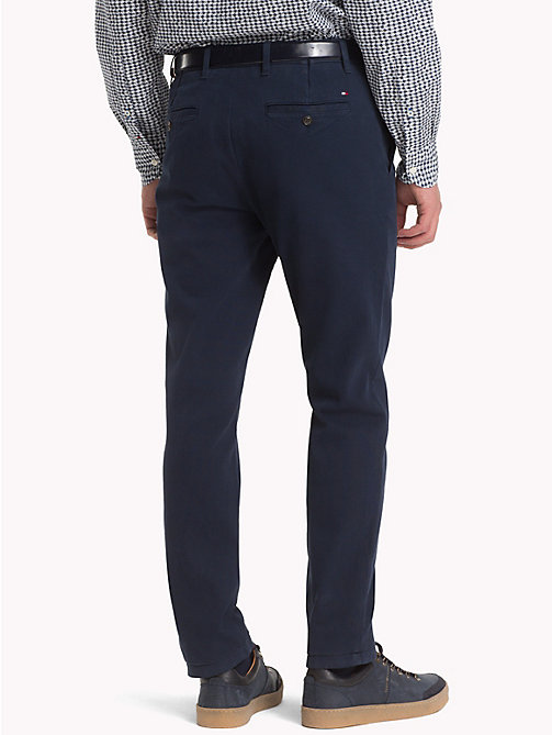 TOMMY HILFIGER Bleecker Slim Fit Twill Chinos - SKY CAPTAIN - TOMMY HILFIGER Trousers & Shorts - detail image 1