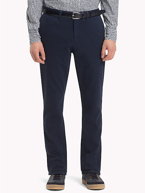 TOMMY HILFIGER Bleecker Slim Fit Chinos aus Twill - SKY CAPTAIN - TOMMY HILFIGER Chinohosen - main image