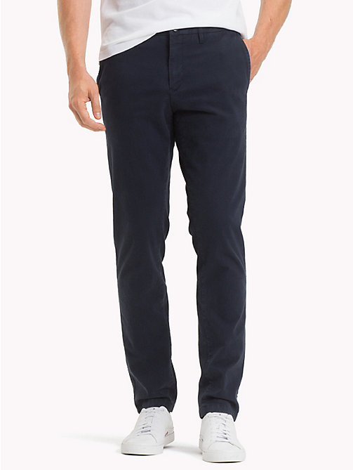 TOMMY HILFIGER Bleecker Slim Fit Chinos - SKY CAPTAIN - TOMMY HILFIGER Trousers & Shorts - main image