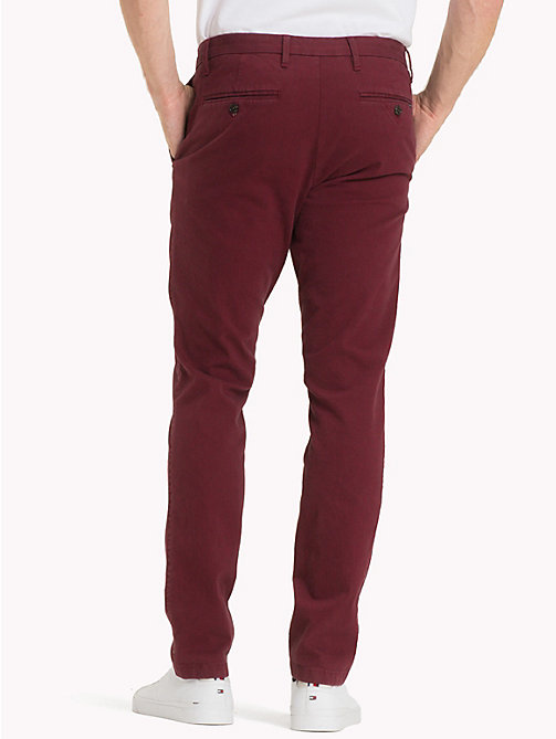 TOMMY HILFIGER Bleecker Slim Fit Chinos - RHUBARB - TOMMY HILFIGER Trousers & Shorts - detail image 1