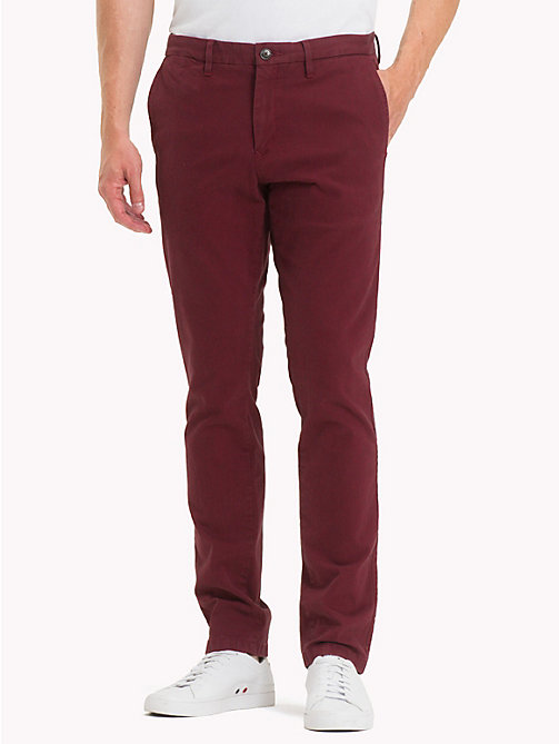 TOMMY HILFIGER Bleecker Slim Fit Chinos - RHUBARB - TOMMY HILFIGER Chinos - main image
