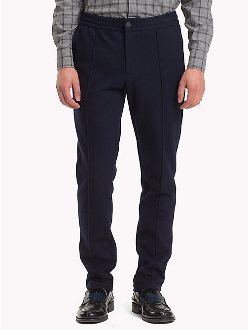 TOMMY HILFIGER Wool Joggers - SKY CAPTAIN - TOMMY HILFIGER Clothing - main image
