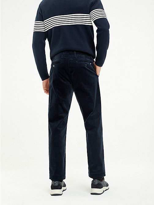 TOMMY HILFIGER Corduroy Wide Fit Trousers - SKY CAPTAIN - TOMMY HILFIGER NEW IN - detail image 1