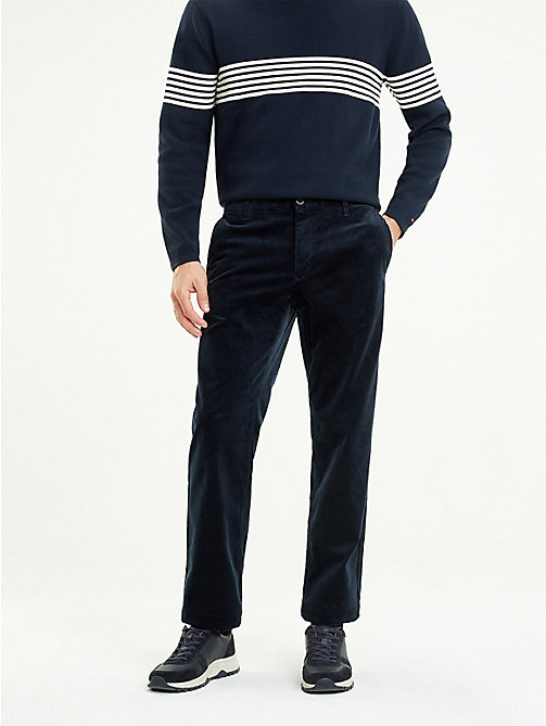 TOMMY HILFIGER Corduroy Wide Fit Trousers - SKY CAPTAIN - TOMMY HILFIGER NEW IN - main image