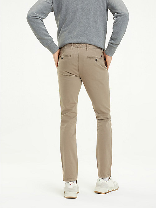 TOMMY HILFIGER Slim Fit Chinos - WALNUT - TOMMY HILFIGER Trousers & Shorts - detail image 1