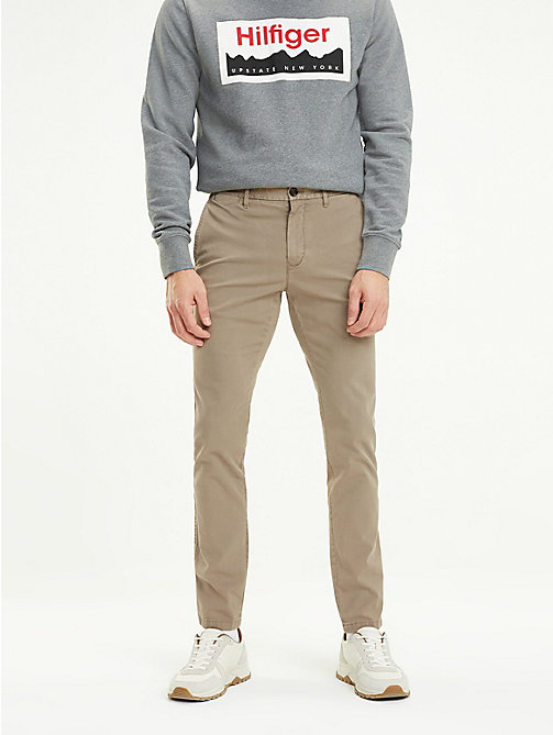 TOMMY HILFIGER Slim Fit Chinos - WALNUT - TOMMY HILFIGER Trousers & Shorts - main image
