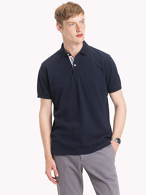 TOMMY HILFIGER Hilfiger Placket Polo Shirt - SKY CAPTAIN - TOMMY HILFIGER Polo Shirts - main image