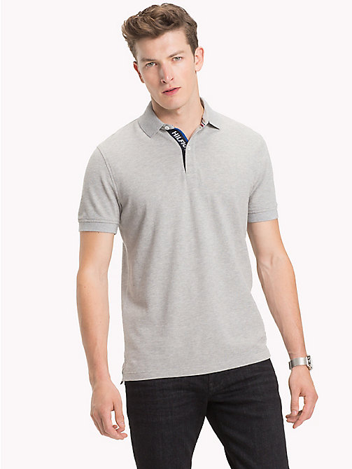 TOMMY HILFIGER Hilfiger Placket Polo Shirt - CLOUD HTR - TOMMY HILFIGER Polo Shirts - main image
