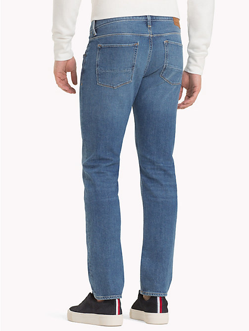 TOMMY HILFIGER Denton Straight Fit Jeans - BAINVILLE BLUE - TOMMY HILFIGER Straight Fit Jeans - main image 1