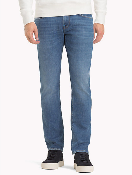 TOMMY HILFIGER Denton Straight Fit Jeans - BAINVILLE BLUE - TOMMY HILFIGER Straight Fit Jeans - main image