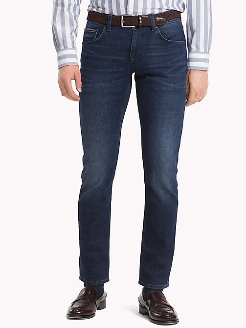 TOMMY HILFIGER Denton Faded Straight Fit Jeans - BRIDGER INDIGO - TOMMY HILFIGER Straight-Fit Jeans - main image
