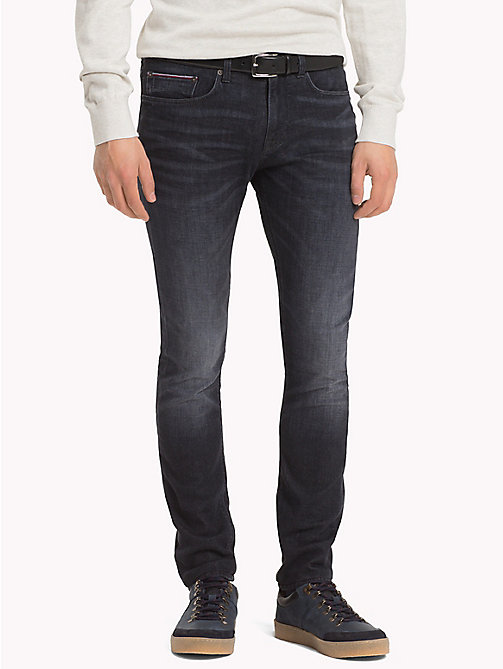 TOMMY HILFIGER Layton Extra Slim Fit Jeans - FLAX BLACK - TOMMY HILFIGER Clothing - main image
