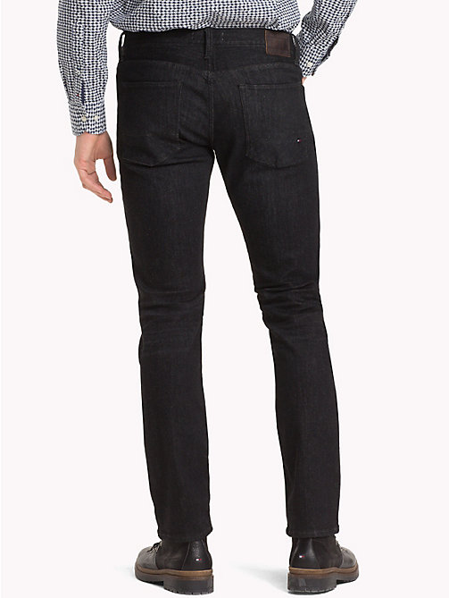 TOMMY HILFIGER Denton Straight Fit Jeans - SIDNEY BLACK - TOMMY HILFIGER Clothing - detail image 1