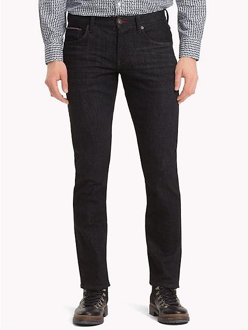 TOMMY HILFIGER Denton Straight Fit Jeans - SIDNEY BLACK - TOMMY HILFIGER Clothing - main image