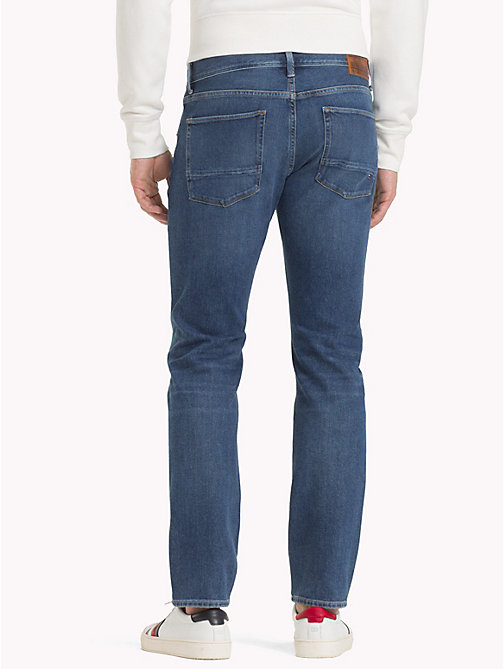 TOMMY HILFIGER Denton Stretch Straight Fit Jeans - HARDIN BLUE - TOMMY HILFIGER Clothing - detail image 1