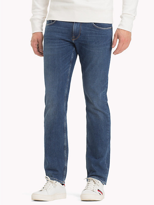 TOMMY HILFIGER Denton Stretch Straight Fit Jeans - HARDIN BLUE - TOMMY HILFIGER Clothing - main image