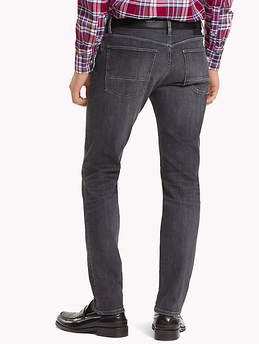 TOMMY HILFIGER Bleecker Stretch Slim Fit Jeans - MOORE BLACK - TOMMY HILFIGER Slim-Fit Jeans - detail image 1
