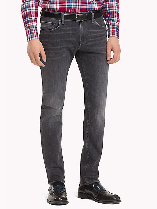 TOMMY HILFIGER Bleecker Stretch Slim Fit Jeans - MOORE BLACK - TOMMY HILFIGER Slim-Fit Jeans - main image
