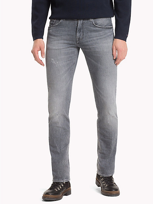 TOMMY HILFIGER Distressed Denton Straight Jeans - DRUMMOND WORN - TOMMY HILFIGER NEW IN - main image