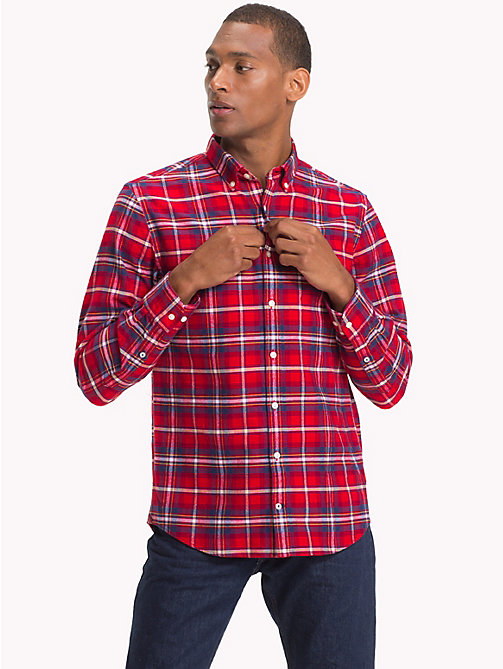 TOMMY HILFIGER Plaid Check Oxford Shirt - HAUTE RED / MULTI - TOMMY HILFIGER NEW IN - detail image 1