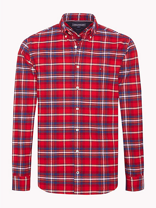 TOMMY HILFIGER Plaid Check Oxford Shirt - HAUTE RED / MULTI -  NEW IN - main image